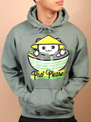 Pho Please Unisex Hoodie - Heather Green