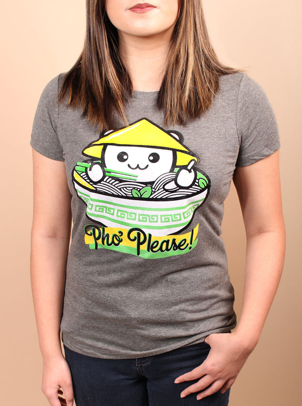 Pho Please Woman's T-Shirt - Gray
