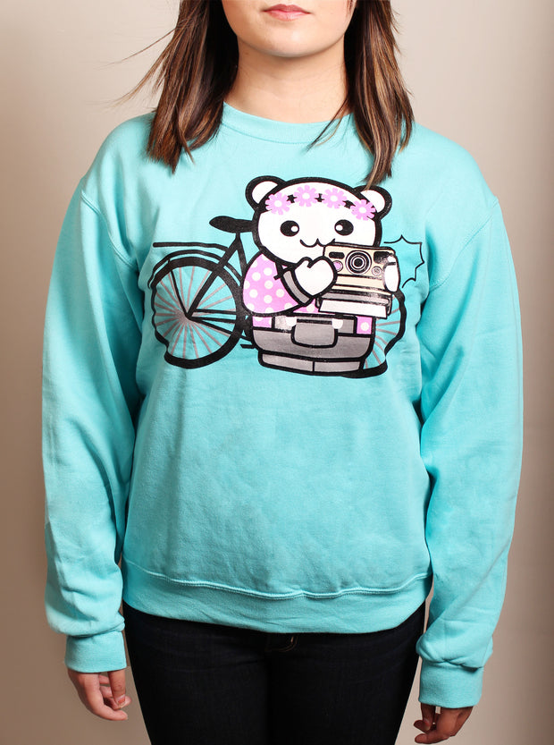Photo Girl Unisex Crewneck Sweater