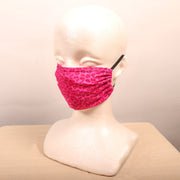 Pink Cheetah Pattern Face Mask