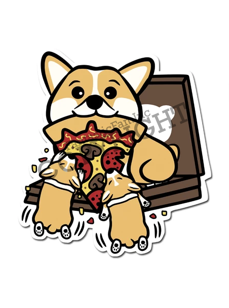Pupperoni Pizza Vinyl Sticker