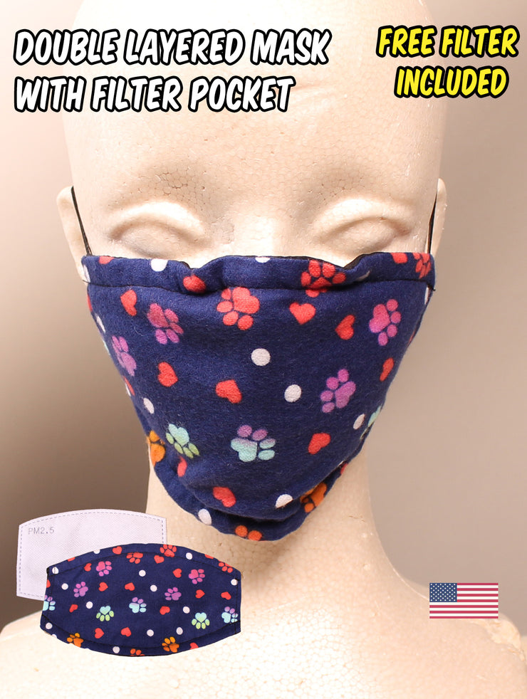 Puppy Paw Pattern Face Mask