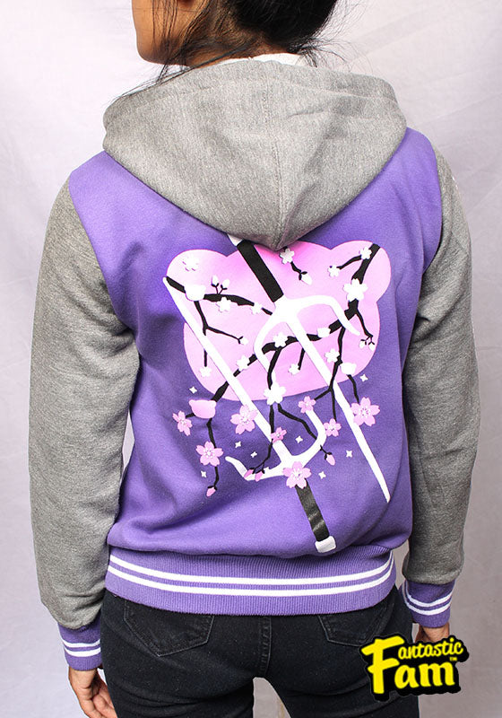 Cherry Blossoms Woman's Jacket - Purple