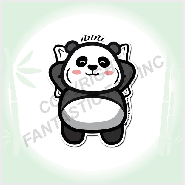 I LOVE NAPS Panda Vinyl Sticker