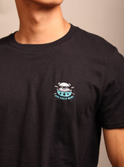Rice Ninja Embroidered Unisex T-Shirt - Black