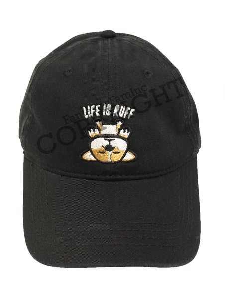 Life is Ruff Dad Cap - Black