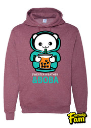 Sweater Weather & Boba Unisex Hoodie - Red