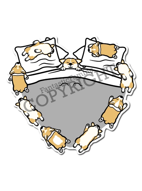 Sleeping Puppers Vinyl Sticker