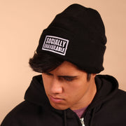 Socially Unavailable Beanie - Black
