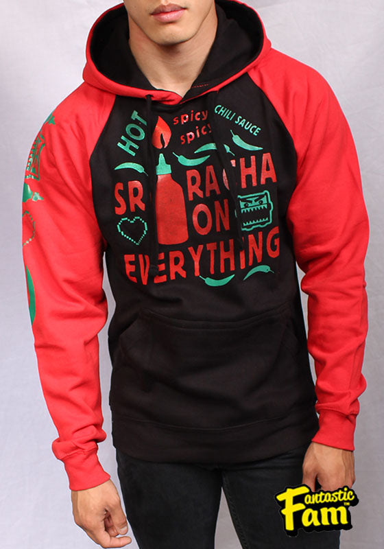 Sriracha On Everything Unisex Hoodie - Red/Black