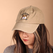 Talk to the Fluff Corgi Dad Cap - Khaki