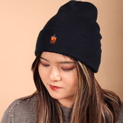 Thai Tea Boba Beanie - Navy