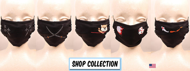 The Ninja Way Embroidered Black Face Mask