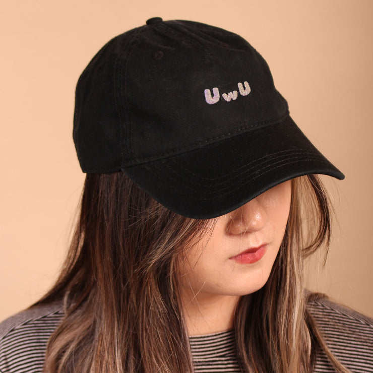 UwU Dad Cap - Black