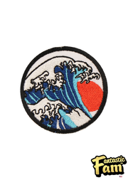 Wave Iron On Patch