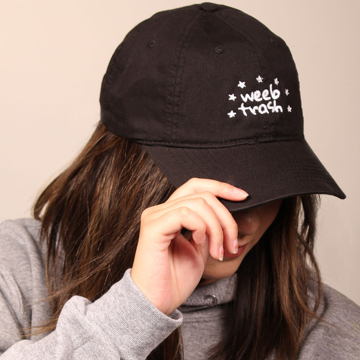 Weeb Trash Dad Cap - Black
