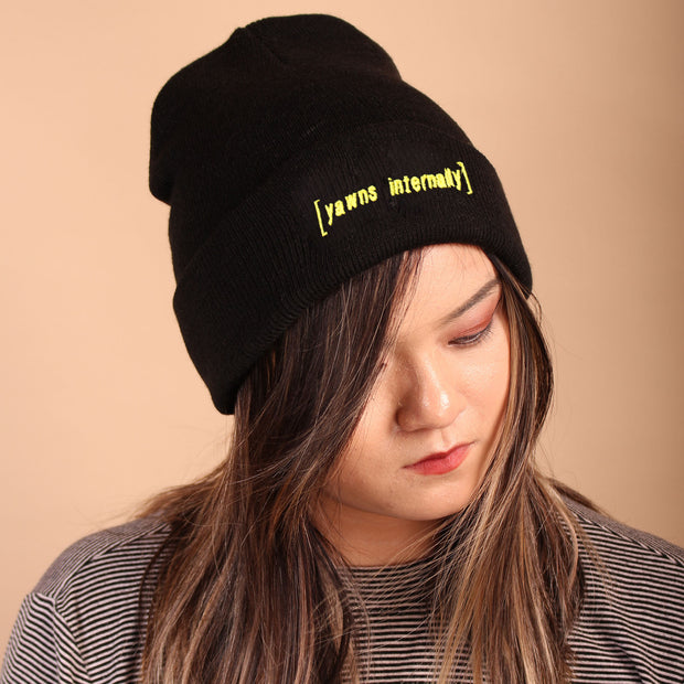 Yawns Internally Beanie - Black