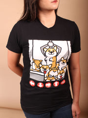 Corgi Claw Machine Unisex T-Shirt - Black
