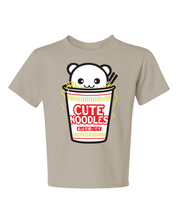Cute Noodles Kids T-Shirt - Tan