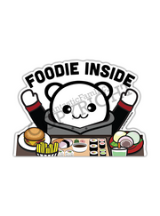 Foodie Inside Peeking Vinyl Sticker