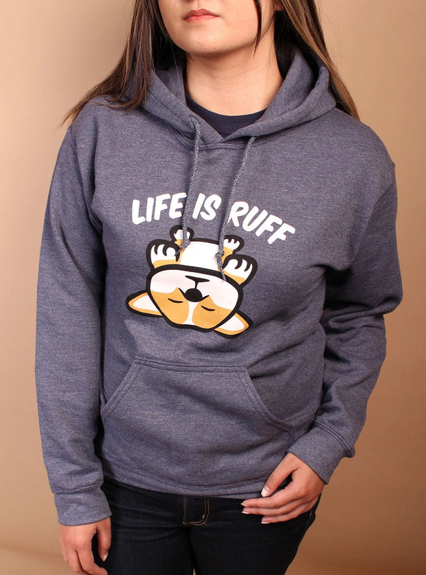 Life is Ruff Unisex Hoodie - Dark Navy