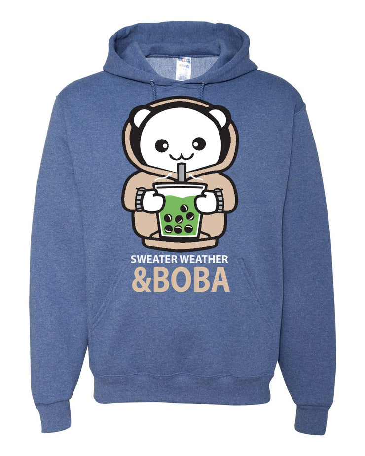 Sweater Weather & Boba Unisex Hoodie - Blue