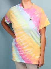 Milk Tea Boba - Tie Dye Embroidered Unisex Tshirt - Color Blast
