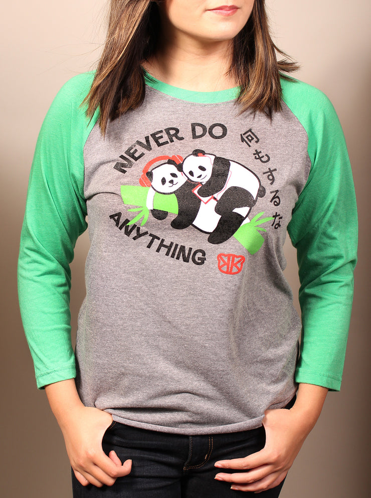 Never Do Anything Panda Unisex Baseball Tee