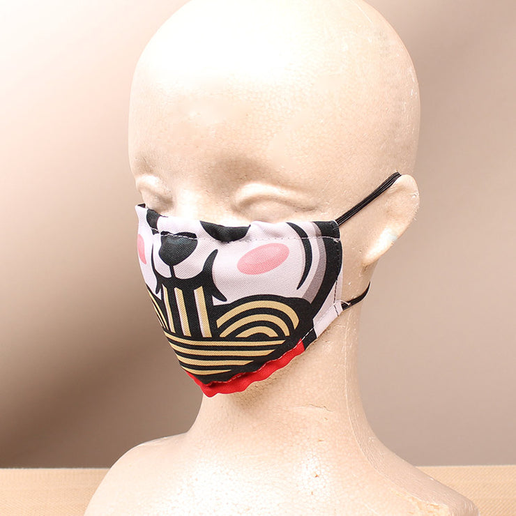 Panda Noodle 2 Layer Face Mask with Filter Pocket Washable, Reusable, Breathable. Free Filter Free Sticker.