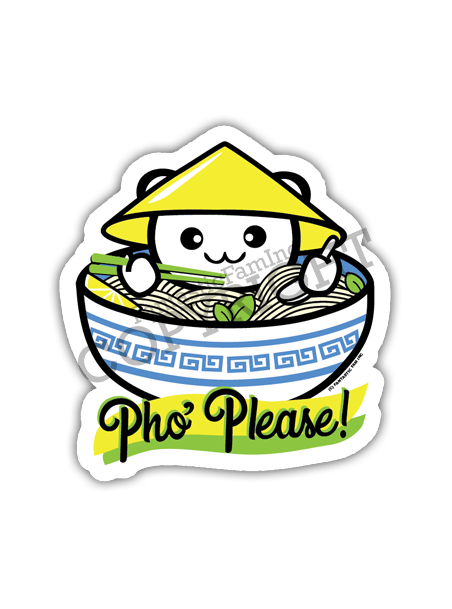 Pho Please! Vinyl Sticker