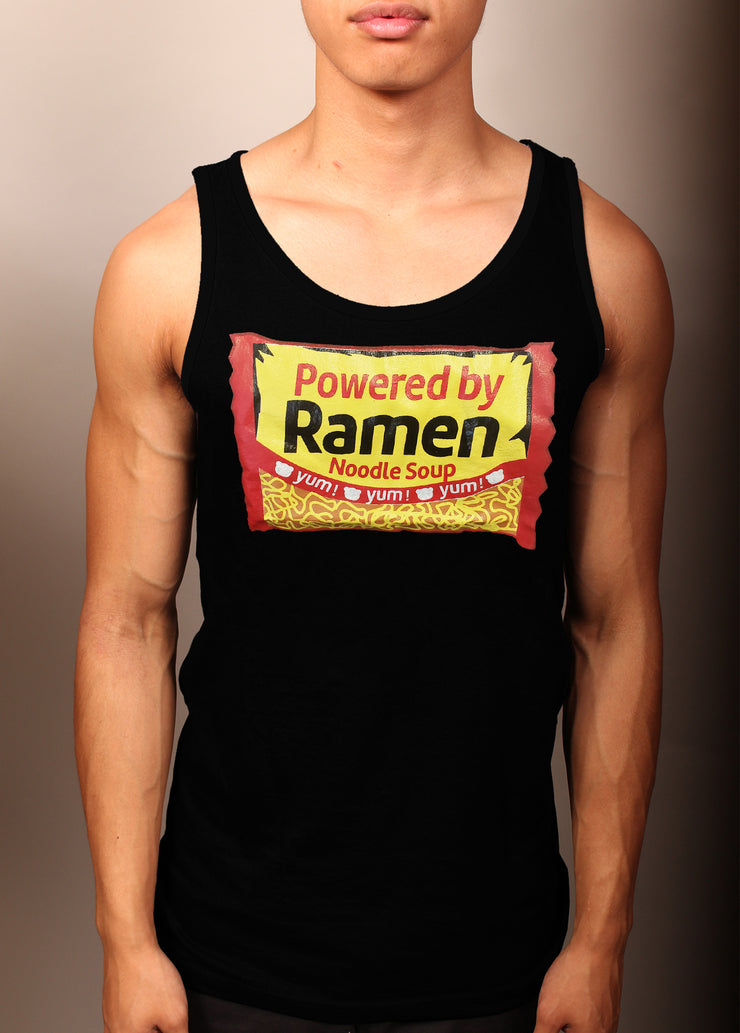 Powered By Ramen! Unisex Tank Top - Black