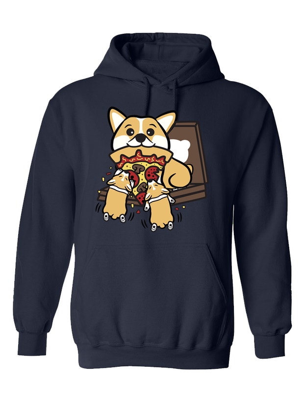 Pupperoni Pizza Dinner Unisex Hoodie - Navy