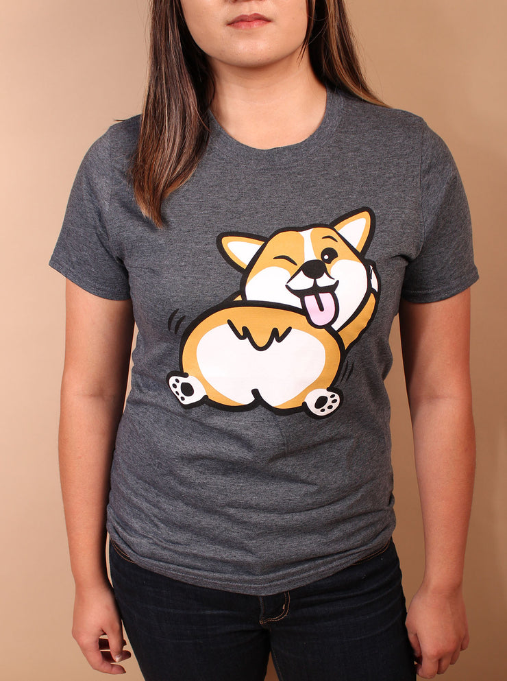 Shake that Fluff Corgi Unisex T-Shirt - Black