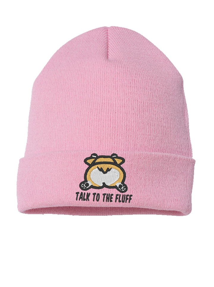 Talk to the Fluff Beanie - Pink
