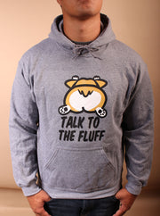 Talk to the Fluff Corgi Unisex Hoodie - Gray