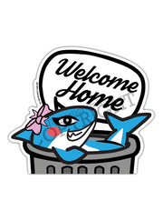 Welcome Home, Trash!! Shark Peeking Vinyl Sticker