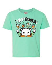 Yay Boba Kids T-Shirt - Mint