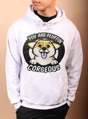 You are Fluffin' CORGEOUS Unisex Hoodie - Heather Gray