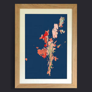 Hetlandensis: Limited Edition Map Art Print from Art Maps
