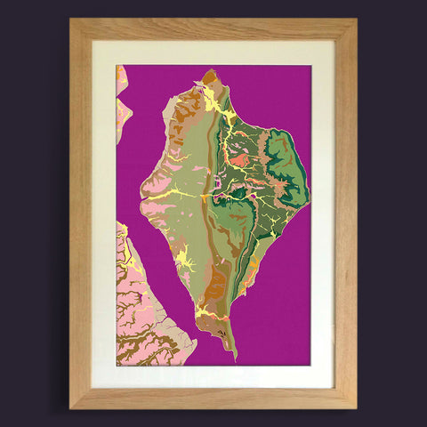Needles: Limited Edition Map Art Print by Art Maps