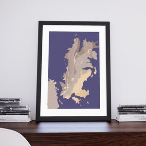 Arisdale: Decorative Map Art Print from Art Maps