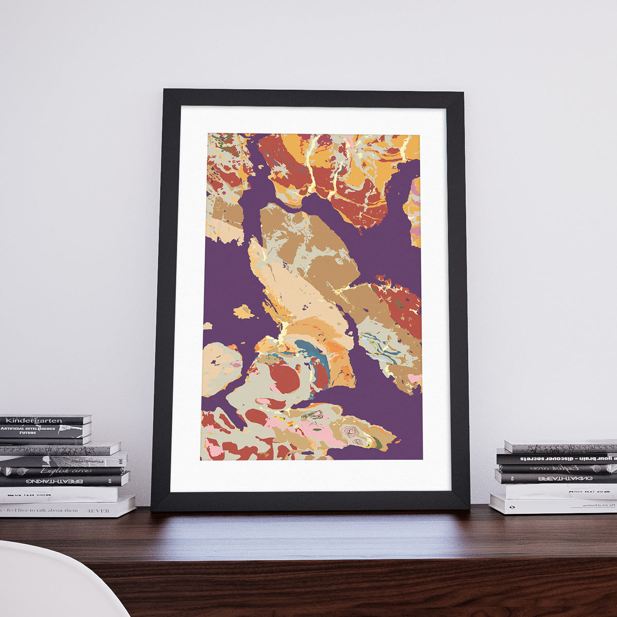 Broadford: Decorative Geological Map Art Print by Art Maps
