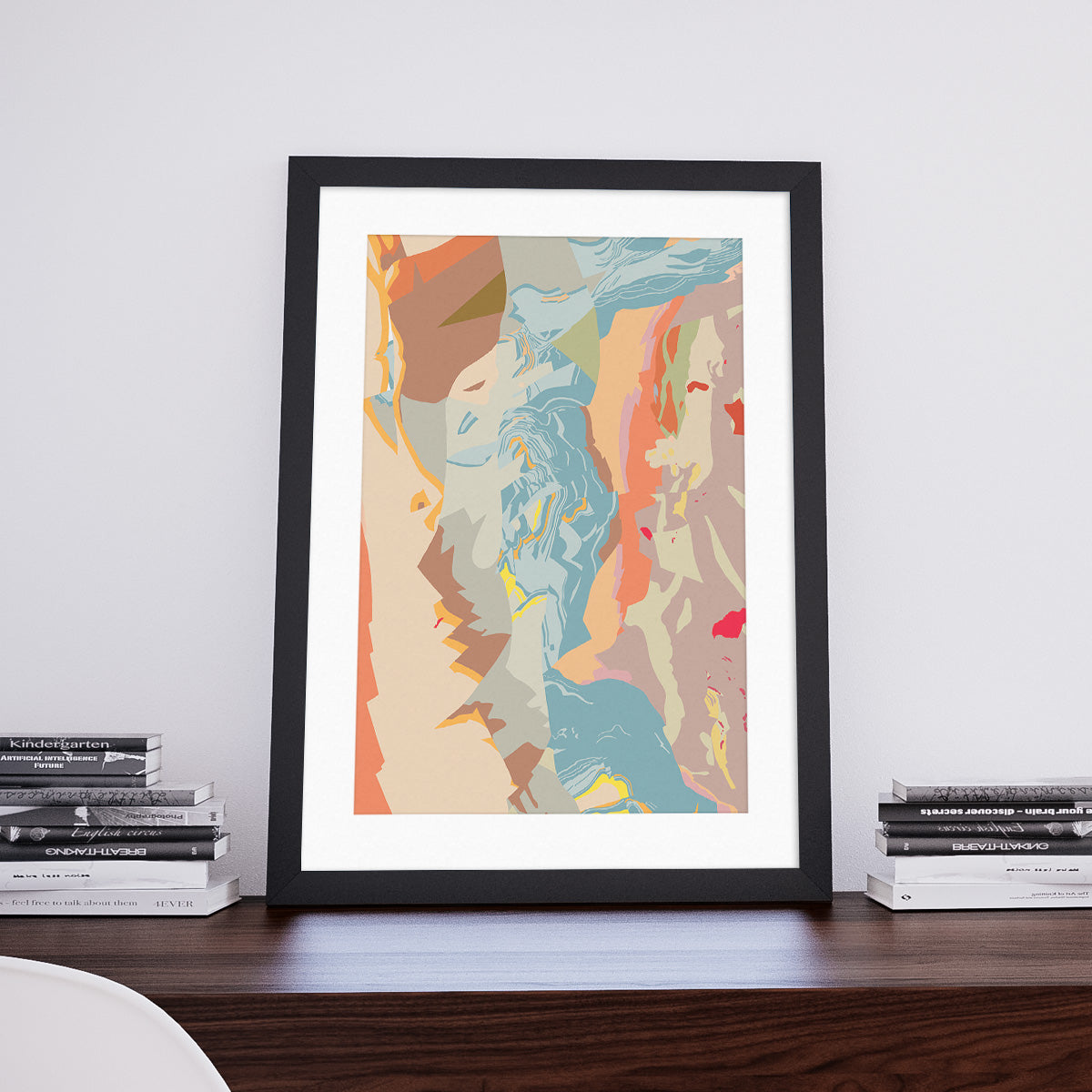 Picasso: Decorative Map Art Print by Art Maps