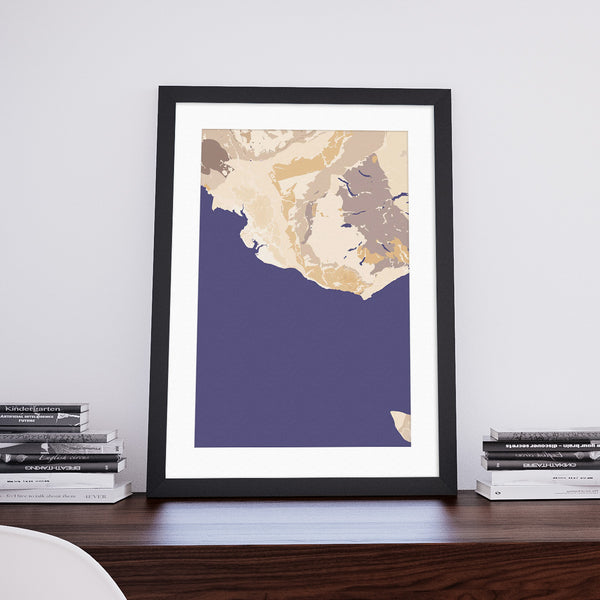 Rhinoland: Decorative Geological Map Art Print by Art Maps