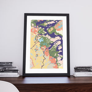 Rivendell: Decorative Geological Map Art Print by Art Maps