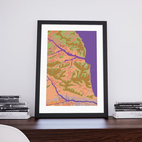 Tellsid: Decorative Geological Map Art Print by Art Maps