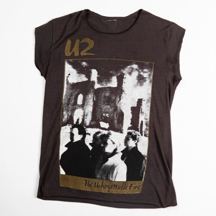 Vintage U2 The Unforgettable Fire 1985 Concert Tour Women&