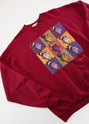 Vintage 1999 Dr. Seuss Cat in the Hat Crew Neck Sweater from Retro Candy