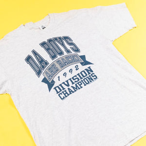 Vintage 1992 Cowboys Da Boys Are Back Champions T-shirt Lee tag from retro candy