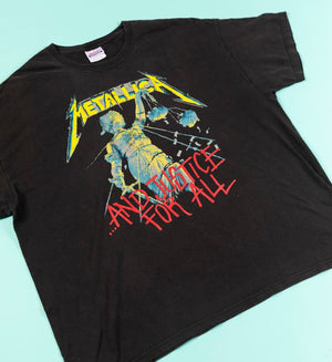 Y2K 2007 Metallica T-shirt And justice for all from Retro Candy Vintage
